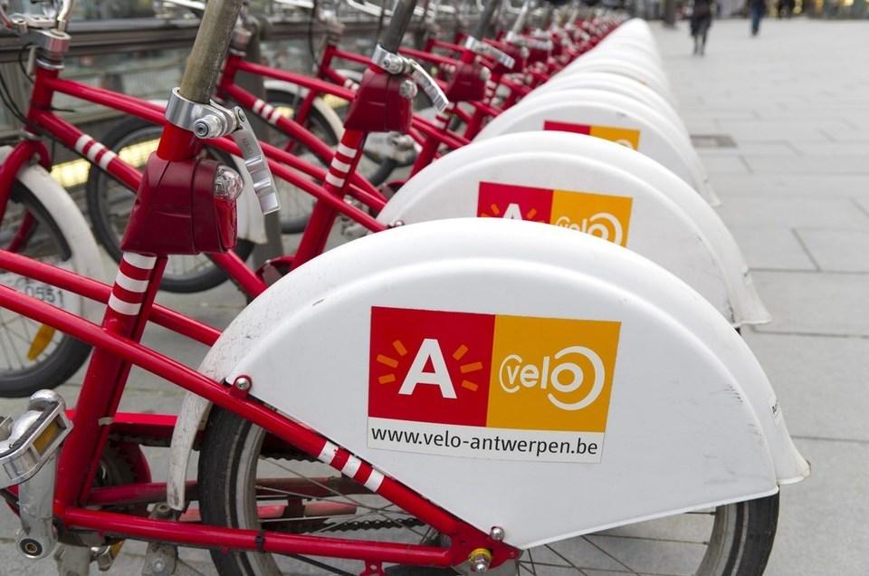 Foto van getsalde Velo-fietsjes