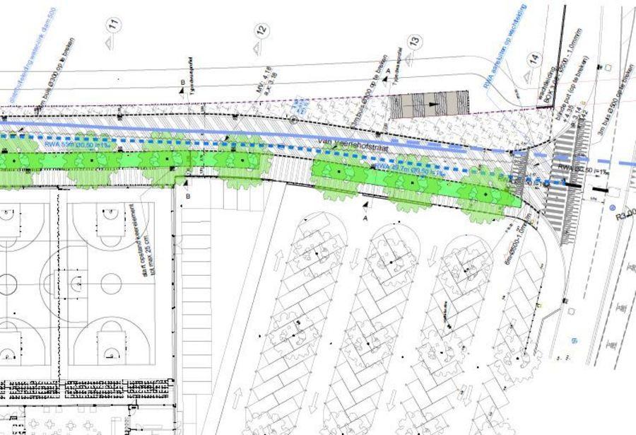 Definitief ontwerp Van Veerlehofstraat - kruispunt Carrettestraat