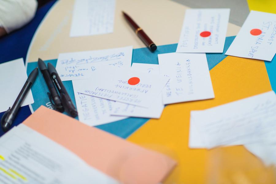 kaartjes met ideeën
