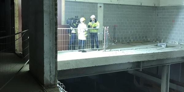 Ondergrondse afbraakwerken premetrostation Opera