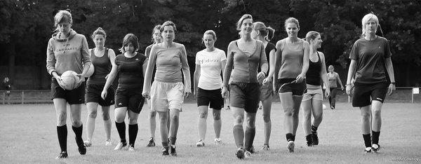 De vrouwenvoetbalploeg van Zeezicht