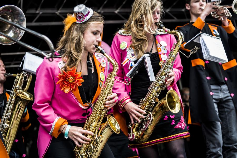 Brassband die in 2018 meedeed aan de Brasspartij
