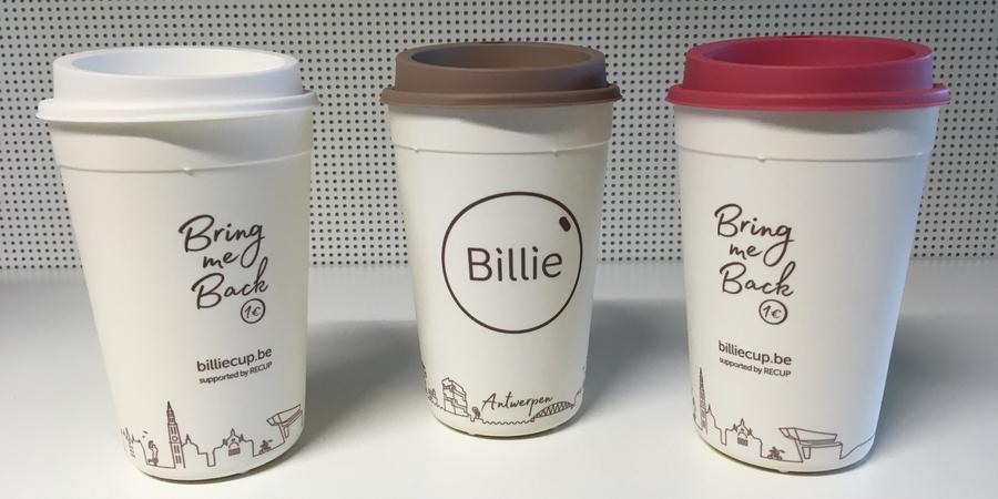 De herbruikbare koffiebeker Billie Cup voor Mei Plasticvrij