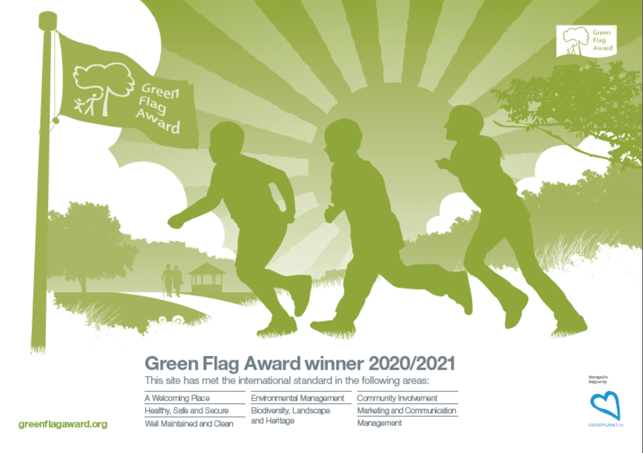 Certificaat Green Flag Award 2020-2021