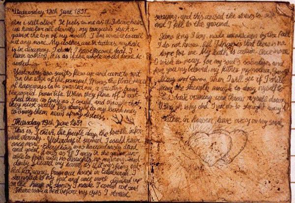 Foto origineel dagboek Idilia Dubb