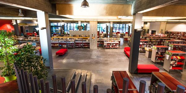 Marktzone in bibliotheek Permeke