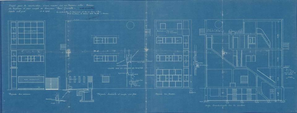 blauwdruk huis Guiette