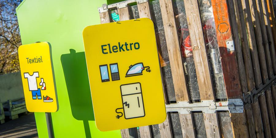 signalisatie recyclagepark