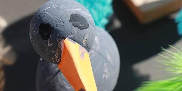 vogeltjes bedenken en maken in bib Permeke