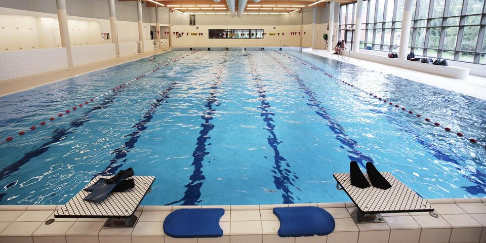 Overzichtsbeeld van zwembad De Schinde