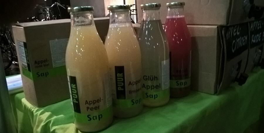 flessen vers geperst fruitsap