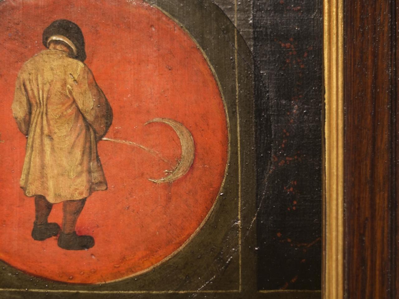 Pissen tegen de maan - Brueghel
