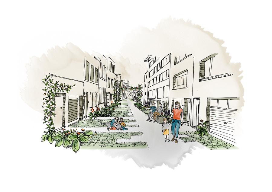 Visualisatie ontwerp Bloemstraat