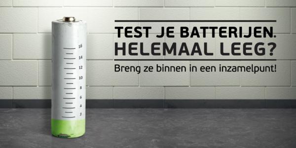 Bebat vraagt om je batterijen te testen en binnen te brengen