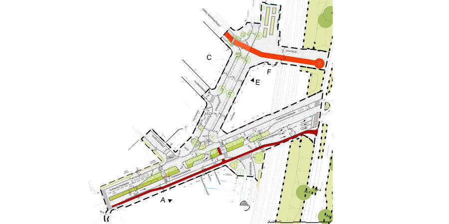 Plan aanpassingen eerste deel Turnhoutsebaan en Statielei