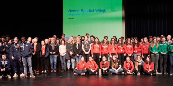 Enkele van de vele sportlaureaten van 2017