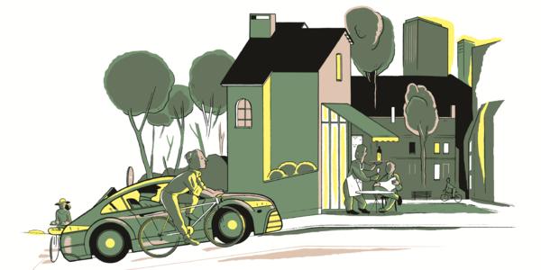 illustratie Fietsberaad: Fix the mix, veilig fietsen in gezonde buurten,