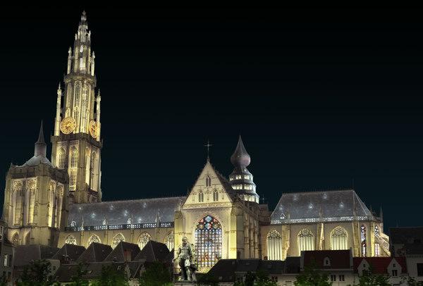 Zo zal de kathedraal eruit zien met de nieuwe verlichting volgens het Lichtplan.