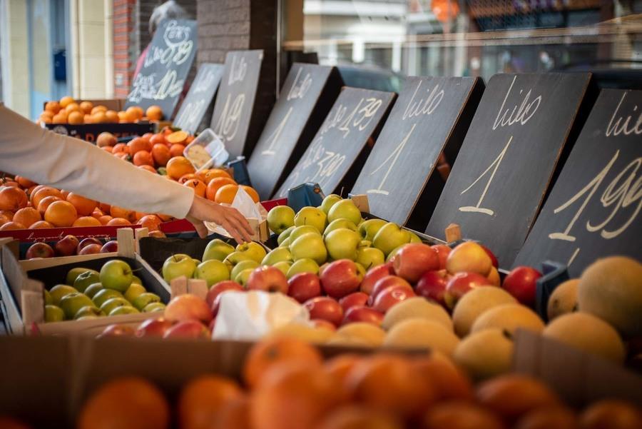 Buitentoog met fruit