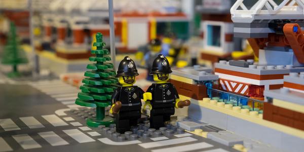 Lego constructies met poppetjes