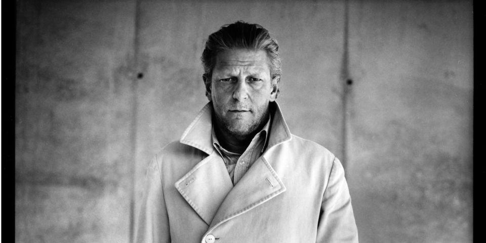 Zwart-wit portret van Jan Fabre