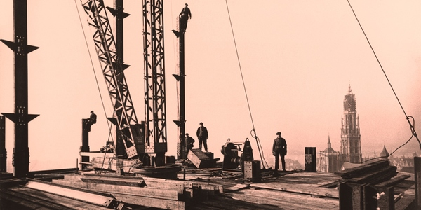 beeld uit de expo 'Werf!' in bibliotheek Permeke