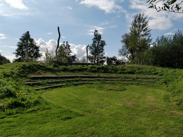 Groot natuurlijk amfitheater