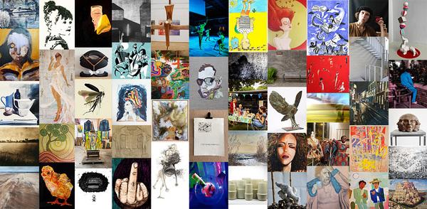 Collage van alle kunstwerken BorgerhART route