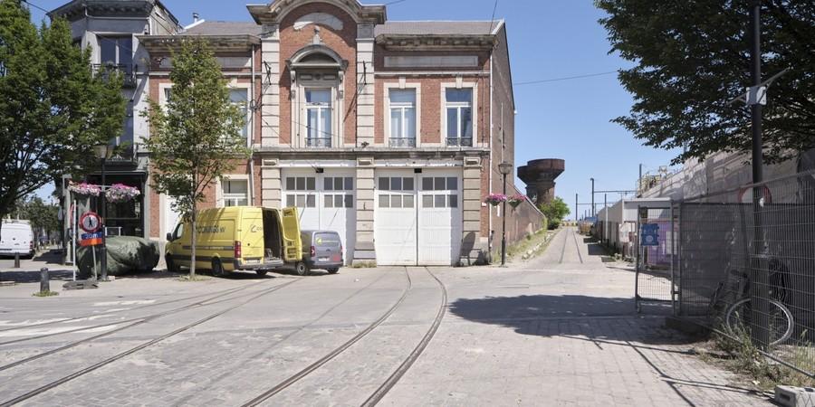 De tramloods aan de Draakplaats in Zurenborg.