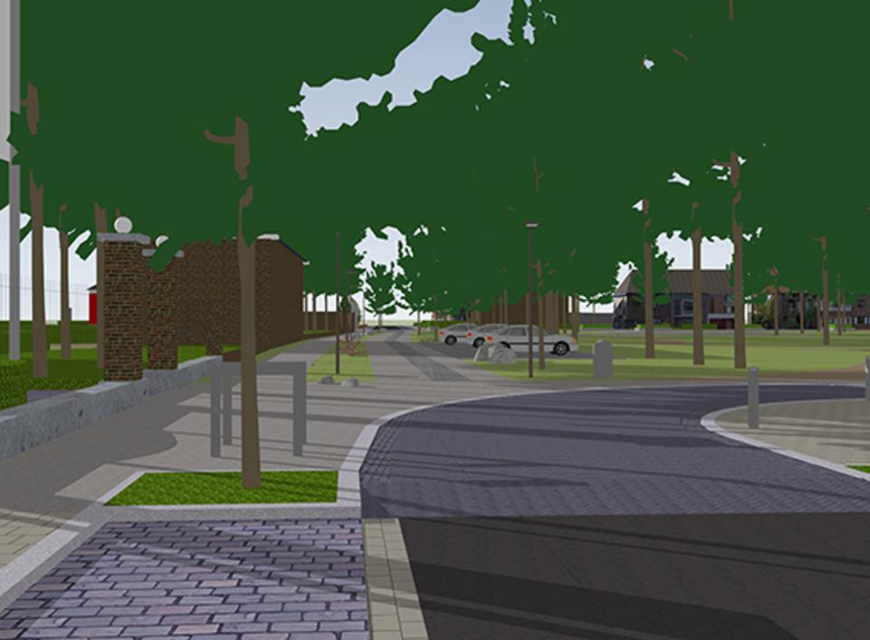 een simulatie van de Marneflaan