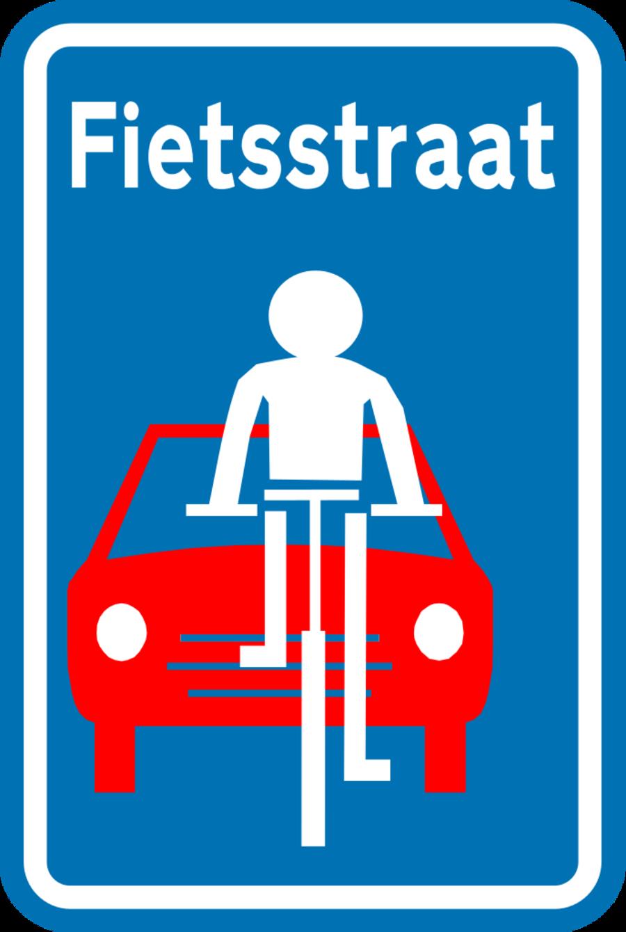 Verkeersbord fietsstraat