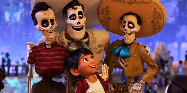 Een beeld uit de animatiefilm 'Coco'