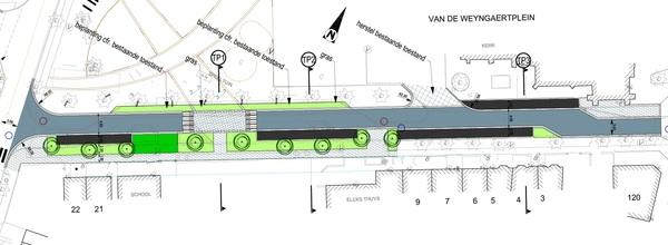 Defintief ontwerp Van de Weyngaertplein