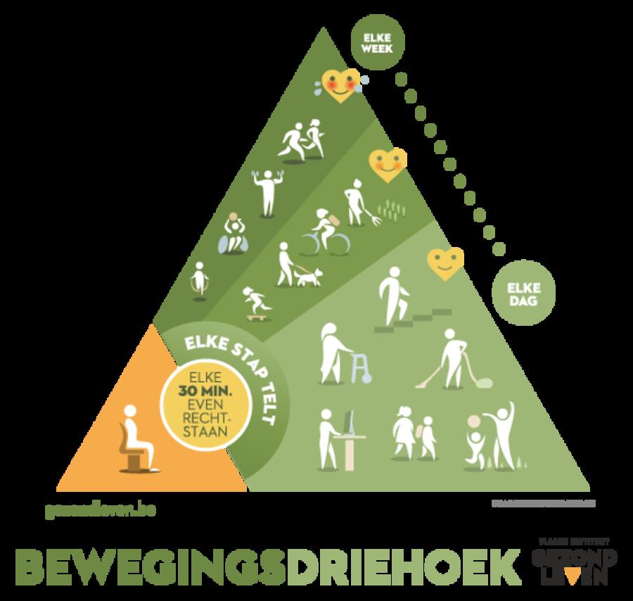 Bewegingsdriehoek van Vlaams Instituut Gezond Leven