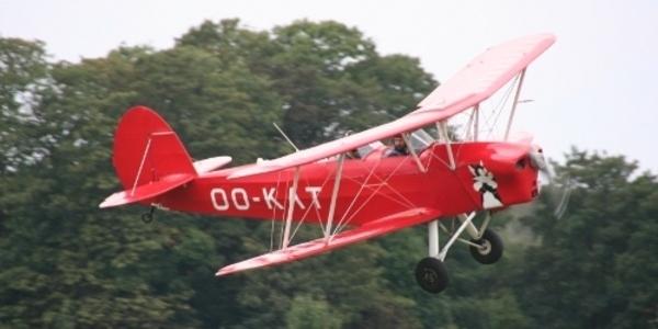 Stampe & Vertongen Museum: een Stampe en Vertongen vliegtuig type SV-4C, foto Paul Soons