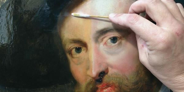 zelfportret Rubens in restauratie