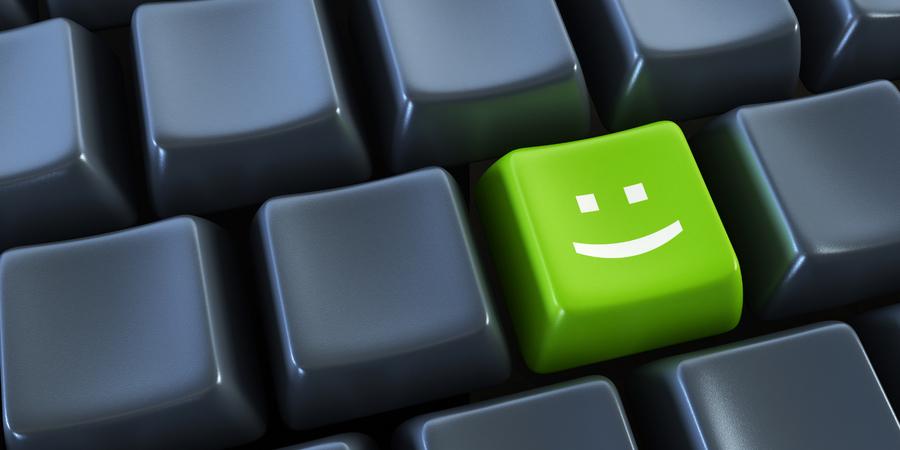 Toetsenbord met smiley