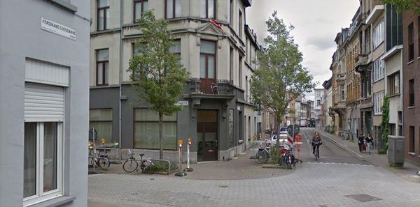 zicht op de Ferdinand Coosemansstraat in de bestaande toestand