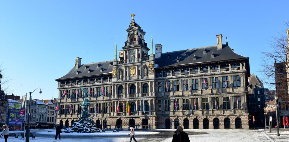 stadhuis voor de restauratiewerken