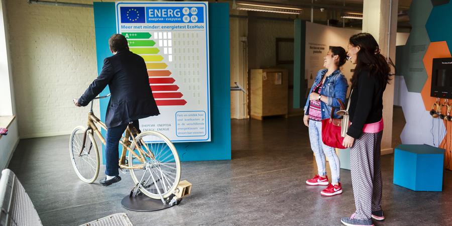 Tentoonstelling EcoHuis: energiefiets