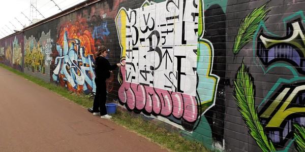 Luka aan de erkende street art zone Depannage 2000