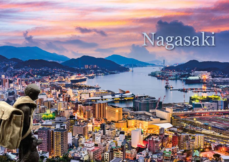 Nello en Patrasche aan de rand van de stad Nagasaki