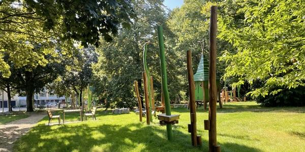 Het nieuwe speelterrein in het Leeuwerikpark