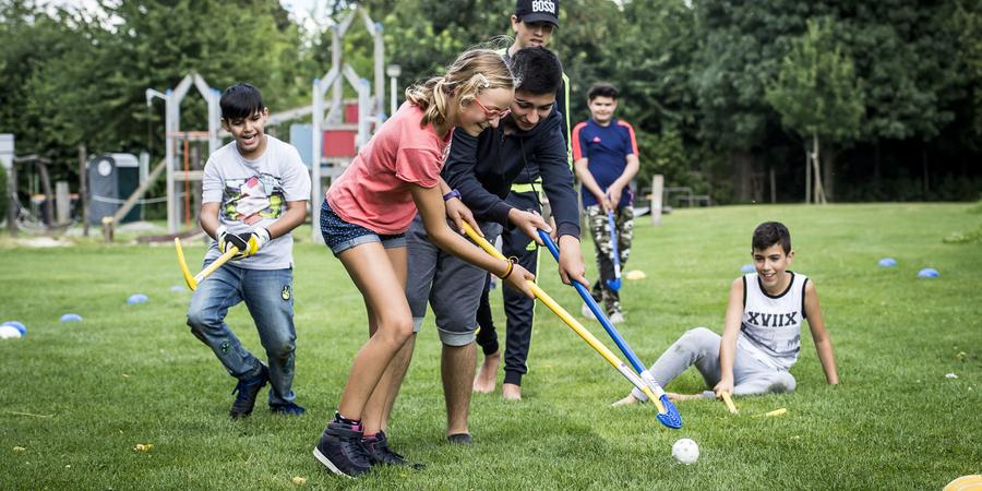 Kids Olympics op Buurtpleintje Prieel