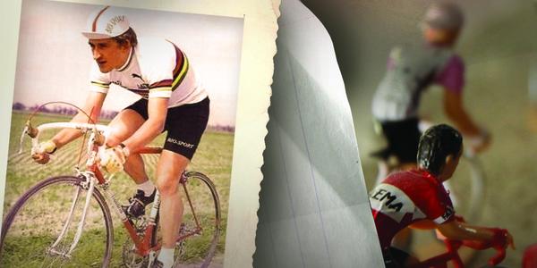 Een fietsende Freddy Maertens