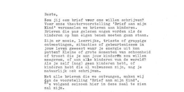 Een brief.