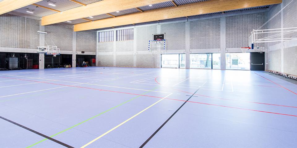 Foto van de zaal van sporthal Rode Loop 2 in Merksem