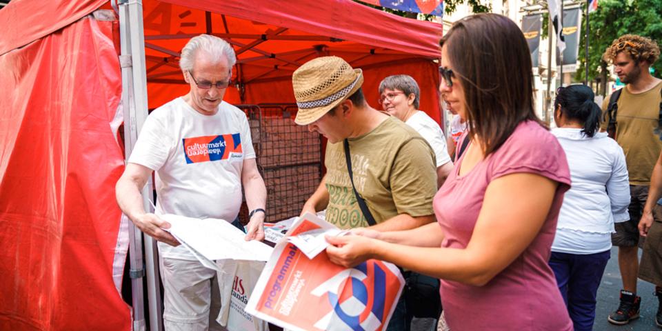 vrijwilliger op de Cultuurmarkt