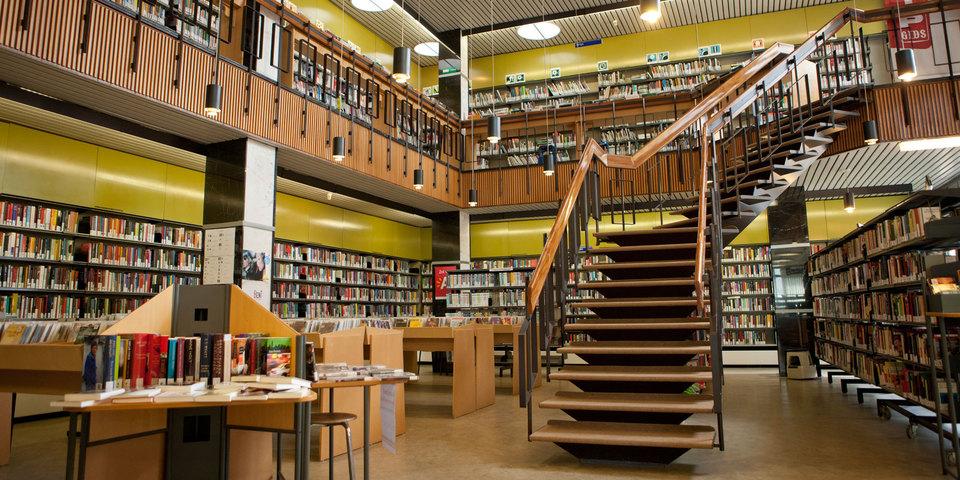 Interieur bibliotheek Driehoek