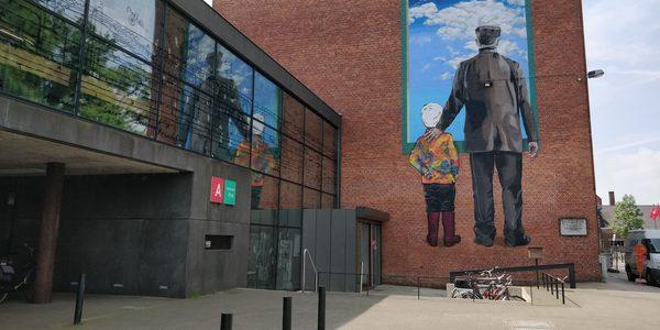 Bib Park voorgeven en graffiti